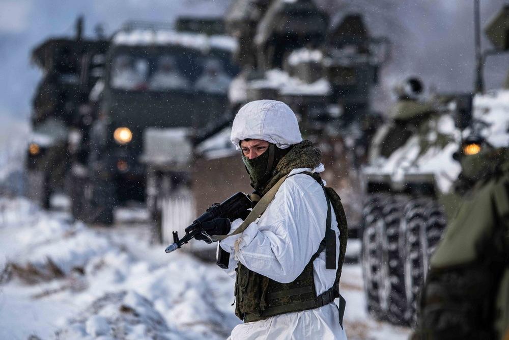 Тренировка воронежских военных