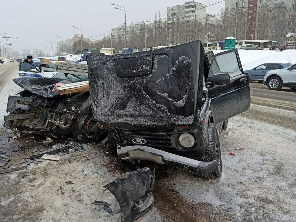 Авария на окружной Воронежа