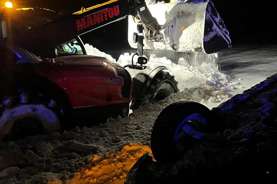 Nissan свалился в кювет в Воронежской области