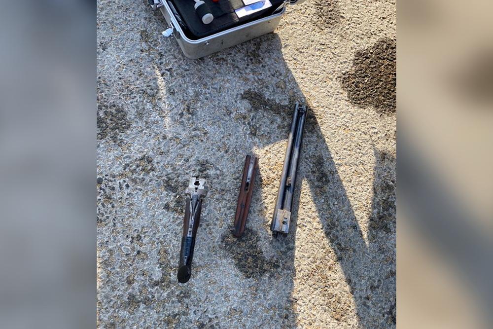 У задержанного изъяли оружие
