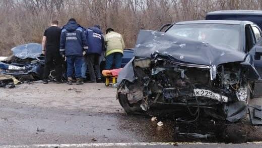 ДТП авария Mercedes Воронежская область