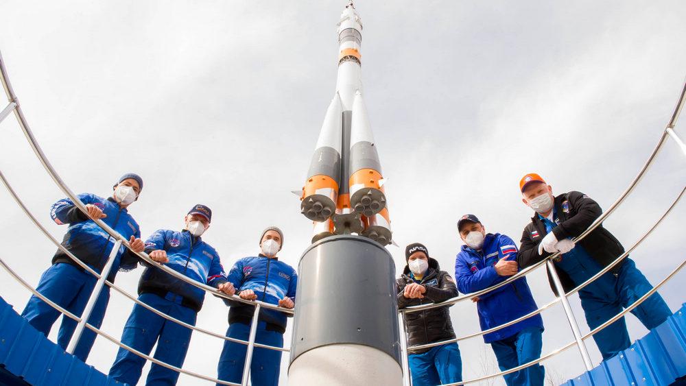 Старт с космодрома Байконур состоялся в 10:42 пятницы, 9 апреля