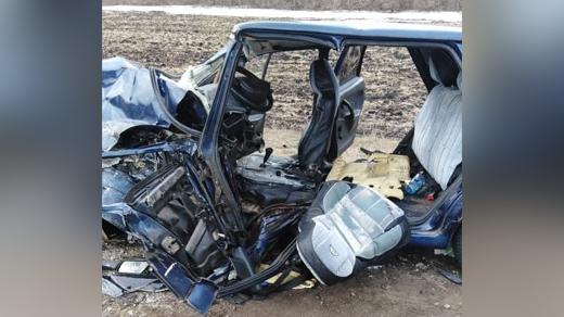 ВАЗ-2115 после аварии в Воронежской области