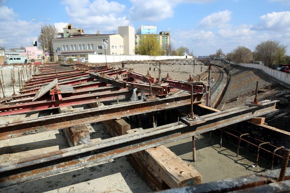 В Воронеже продолжается реконструкция виадука