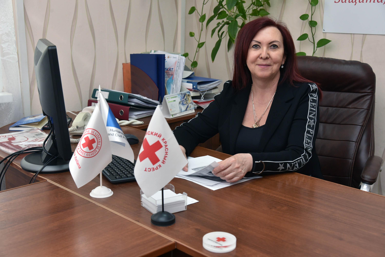 Председатель воронежского регионального отделения Российского Красного Креста Елена Дронова
