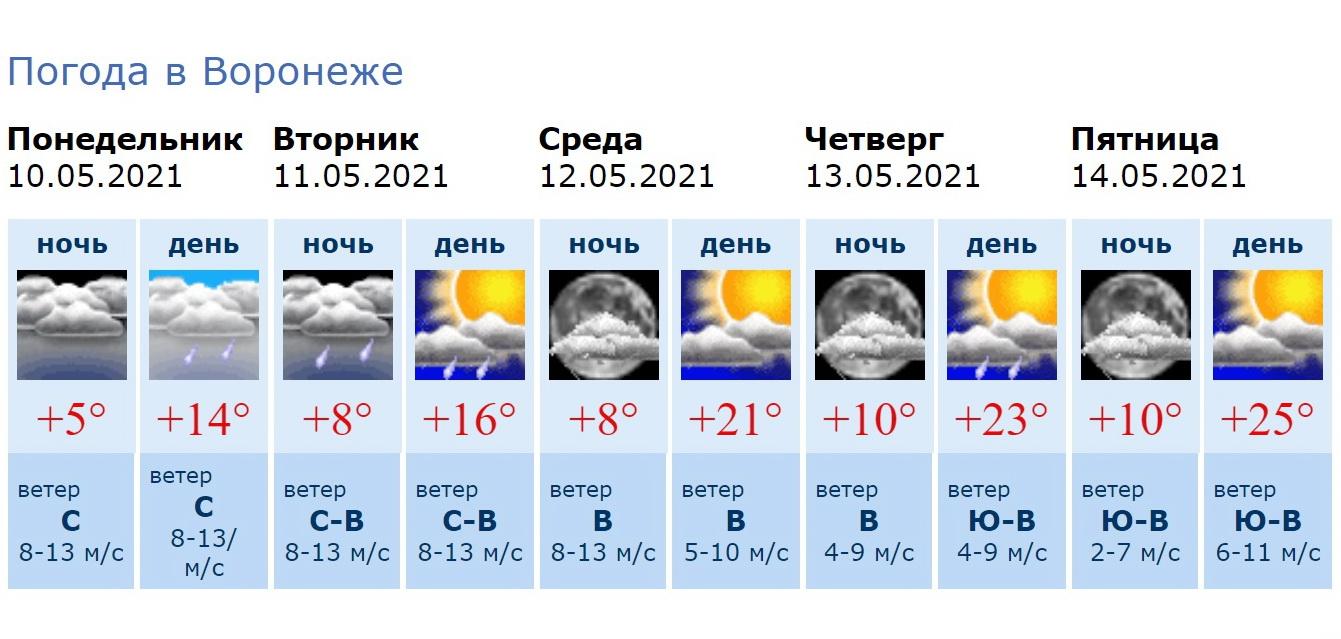 Информация Воронежского гидрометцентра