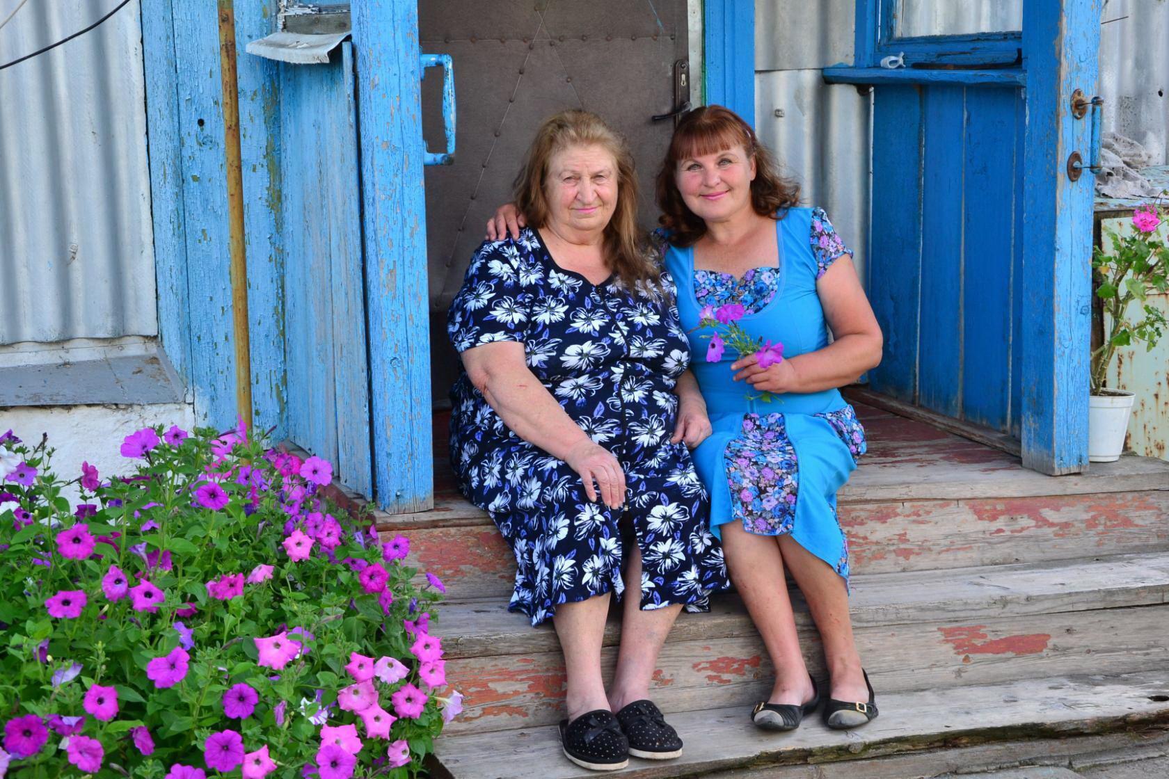 Лидия с дочерью Галиной