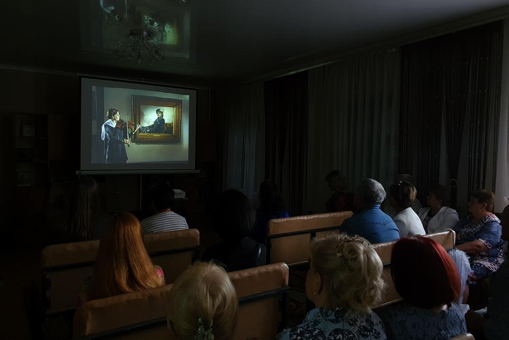 Показ видео о творчестве Ивана Крамского