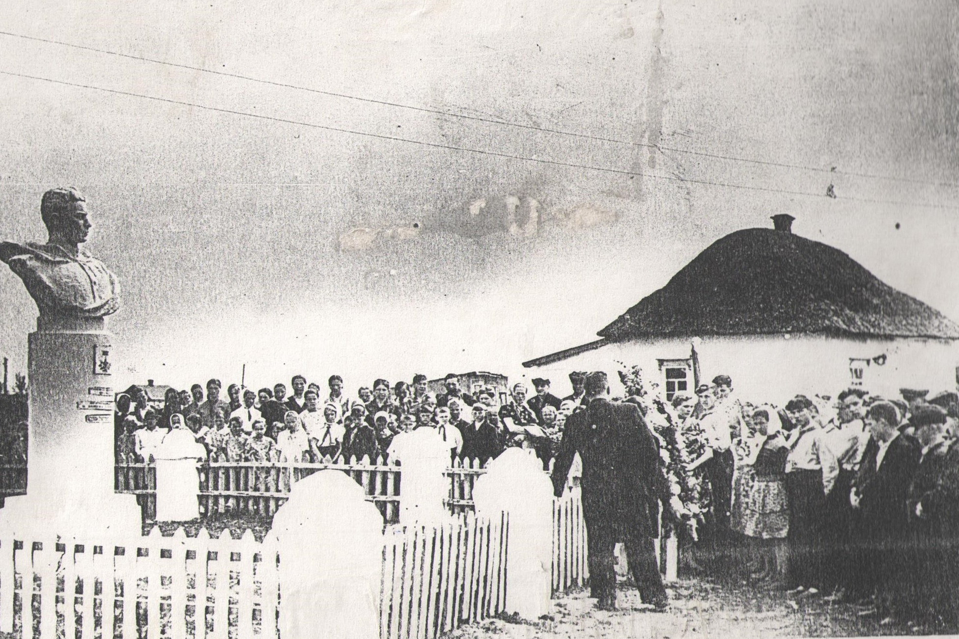 Открытие памятника в Крутце