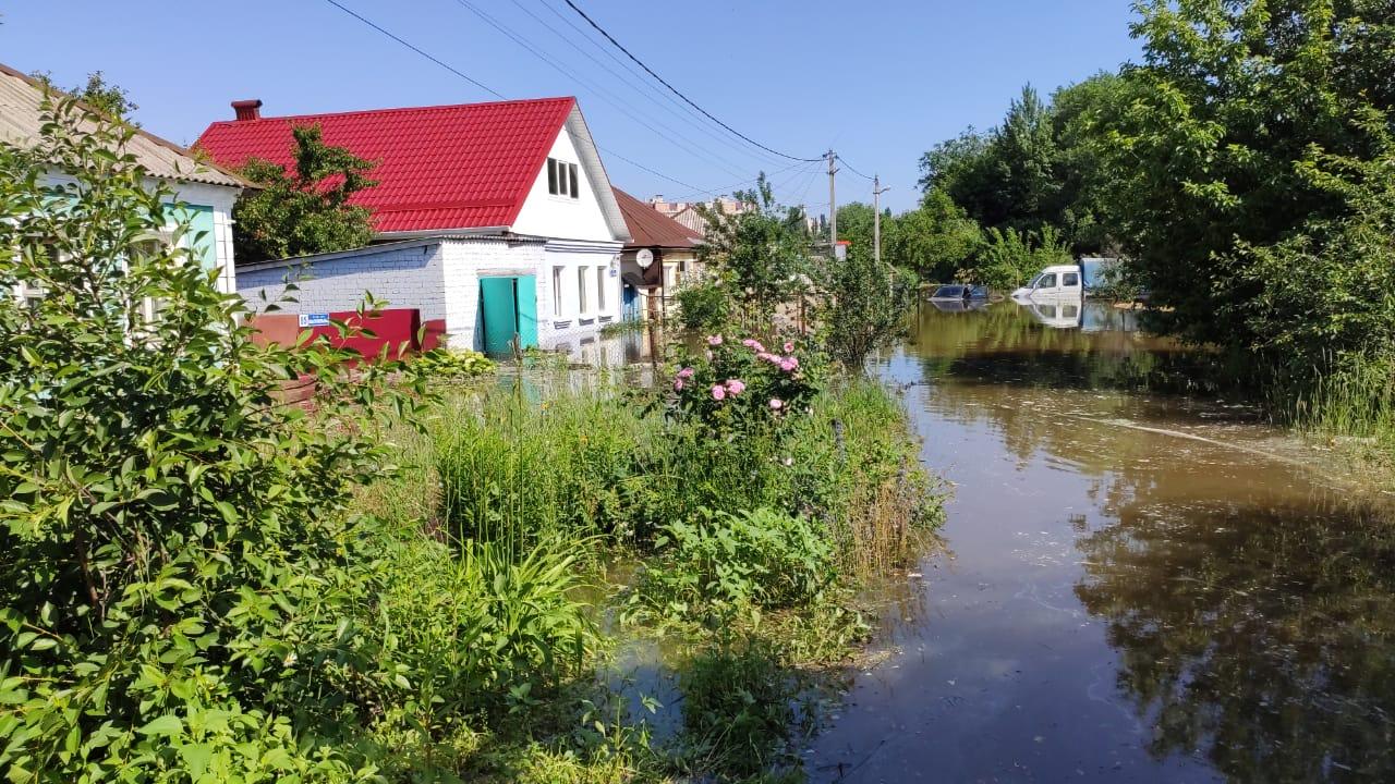 Потоп на левом берегу Воронежа