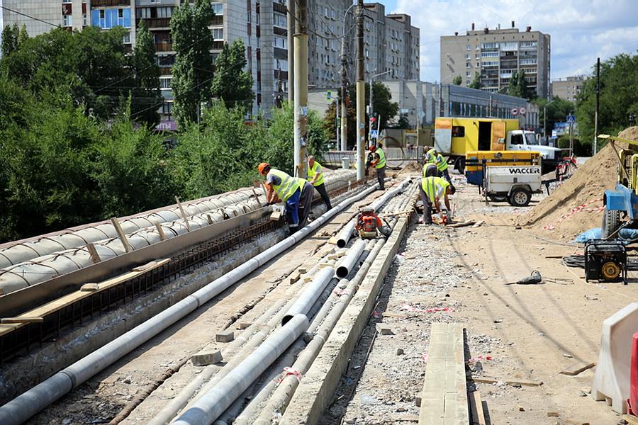 Работы на путепроводе в Воронеже