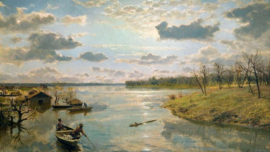 предоставлено музеем; картина Александра Киселева «На берегу реки»