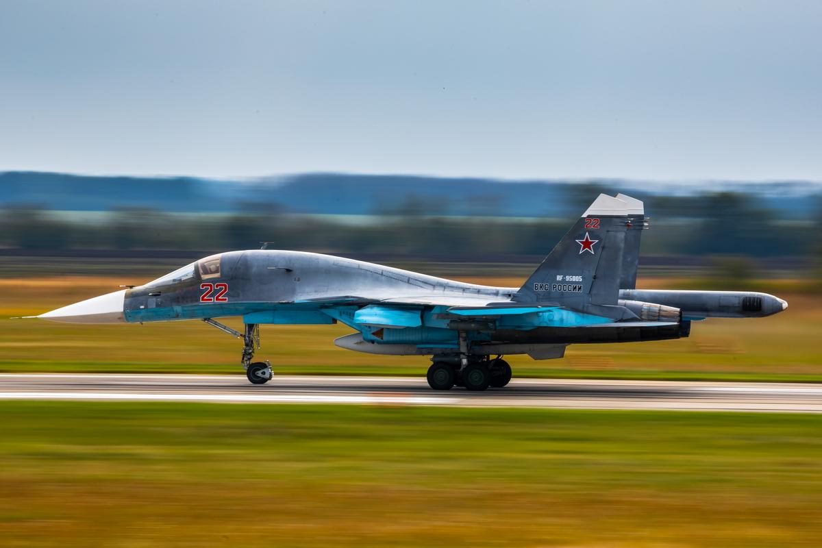 Учения авиации ЗВО в Воронежской области