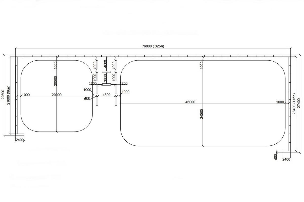 Схема расположения катков на площади Ленина