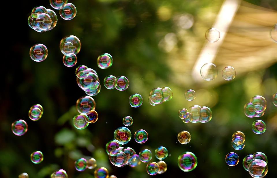 Надпись к картинке с мыльными пузырями, добрый воскресный