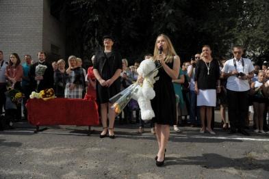 Воронежская гимнастка Ангелина Мельникова побывала в родной школе 1 сентября