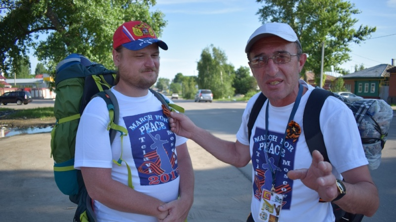 В Борисоглебск прибыл идущий пешком из Грузии 48-летний путешественник
