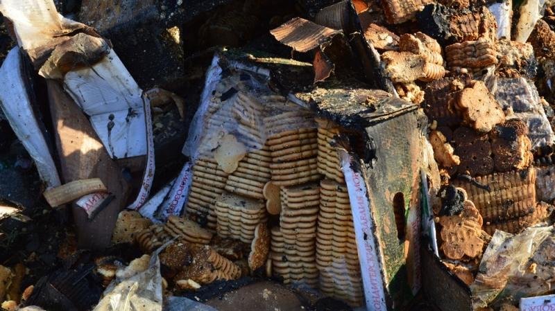 ВВоронежском райцентре сгорел фургон скондитерскими изделиями