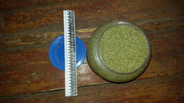 Полицейские афишировали фото изъятых 2,5кг марихуаны