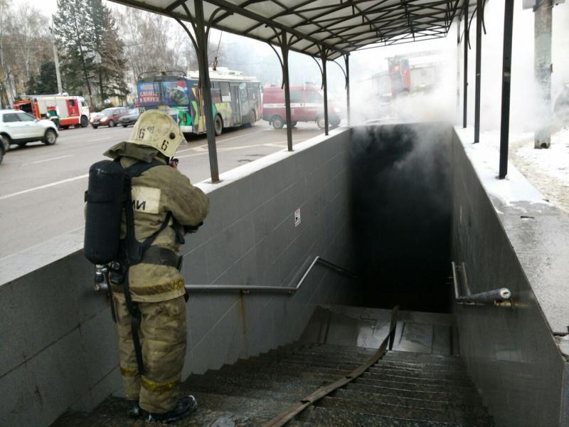 ВВоронеже впереходе у«Политеха» сгорели два киоска
