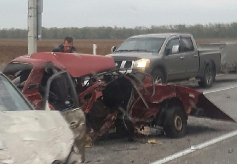 В трагедии стремя автомобилями наворонежской трассе погибли женщина имладенец