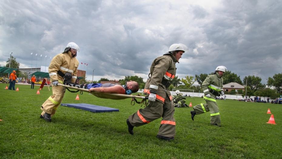 В Острогожске прошел областной смотр-конкурс добровольных пожарных дружин
