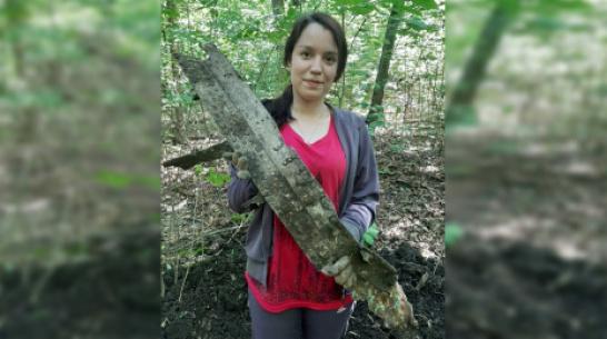 Школьники в Воронежской области нашли фрагмент советского бомбардировщика