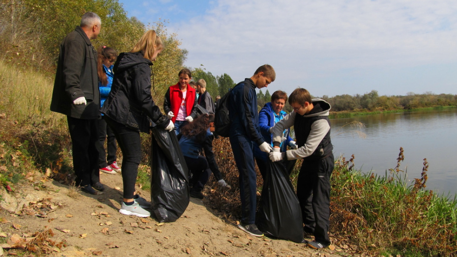 В Каменском районе активисты очистили от мусора 2 км береговой линии Дона