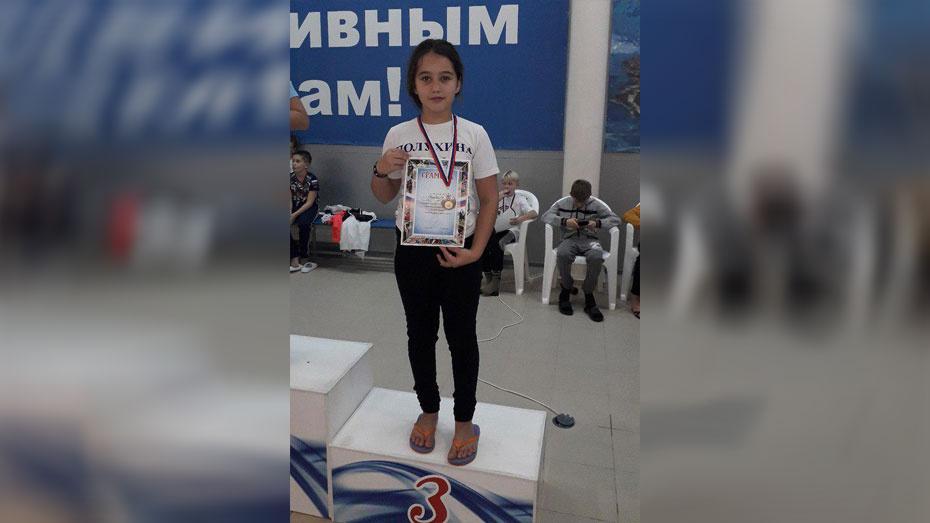Хохольская школьница выиграла «бронзу» Кубка Президента Федерации плавания