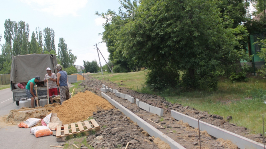 В хохольском селе на строительство тротуара потратили более 2 млн рублей