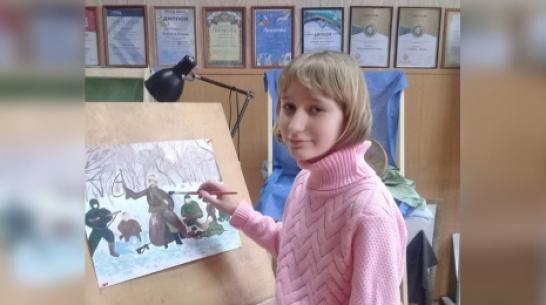 Работу юной художницы из Петропавловки отметили на конкурсе «Спасибо деду за Победу!»