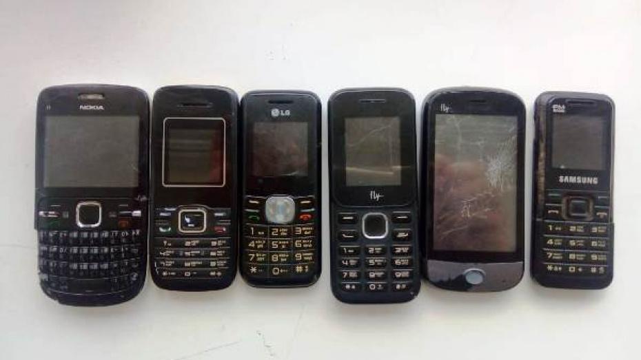 В 2 колонии Воронежской области попытались передать 13 мобильных телефонов за 2 дня