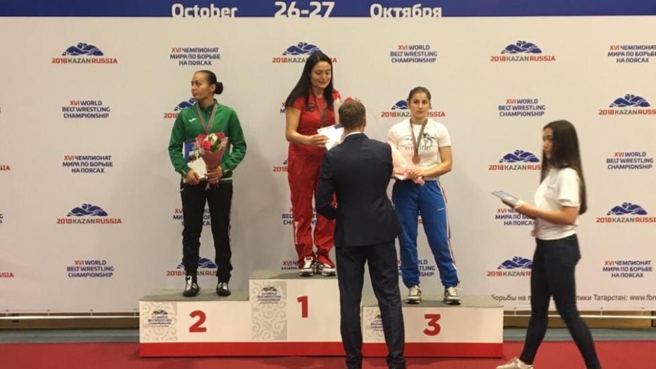 Воронежская спортсменка выиграла чемпионат мира по борьбе на поясах