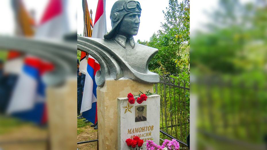 Бюст бобровского летчика установили на его могиле в Новгородской области