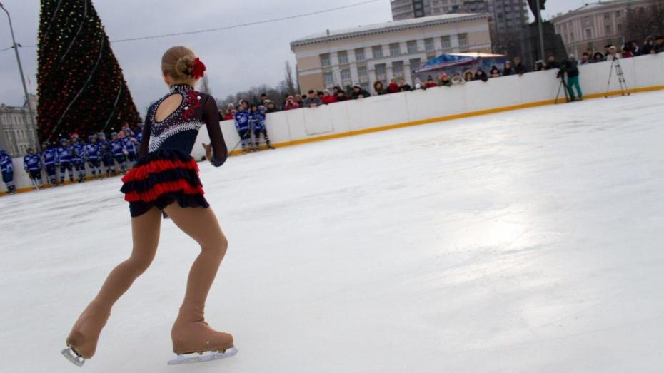 В Воронеже увеличат каток на площади Ленина