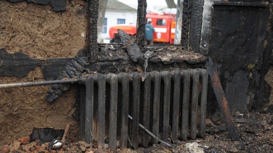 В Воронежской области при пожаре в жилом доме погибла 86-летняя женщина