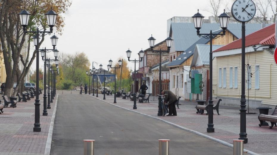 Пешеходную зону Боброва в Воронежской области благоустроят за 33 млн рублей