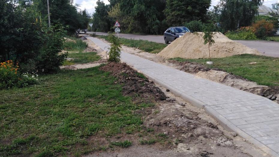 В каширском селе Боево проложат тротуар на улице Ленина