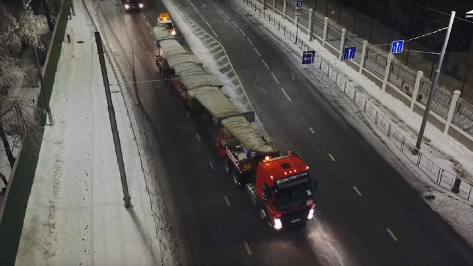 Перевозка фрагментов воронежского самолета Ил-112В попала на видео