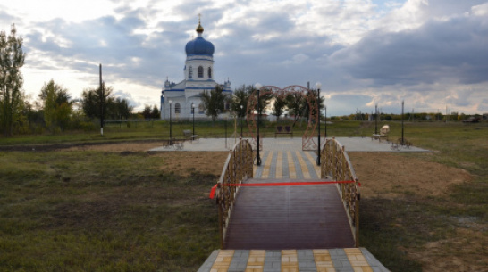 В поворинском селе Самодуровка открыли парк семьи, любви и верности