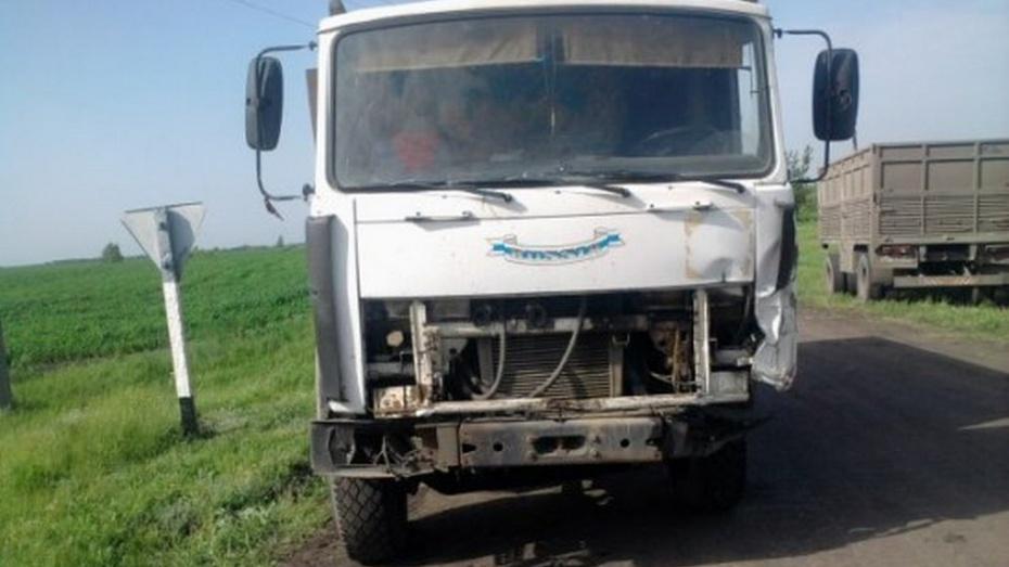 В Новоусманском районе опрокинулся «КамАЗ»