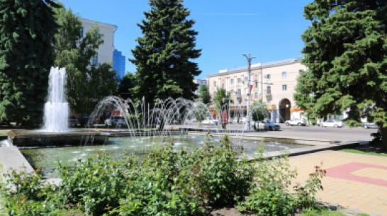 Фонтан на проспекте Революции в Воронеже отключили до 18 июля