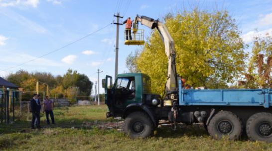 В Терновском районе на установку светодиодных фонарей потратили более 6,1 млн рублей