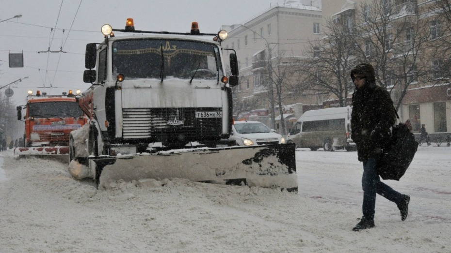 Последствия снегопада вВоронеже устраняли 196 единиц специальной техники