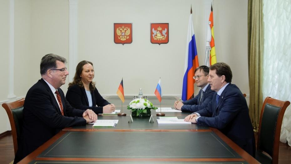 Руководитель Воронежской области А.Гордеев: «Германия для нас остается основным финансовым партнером»