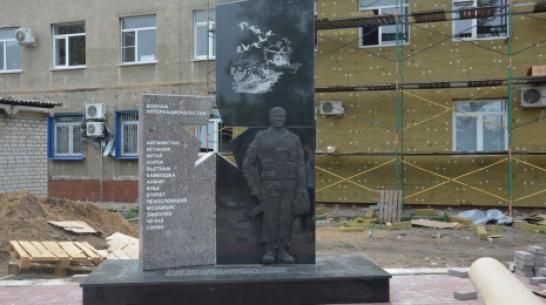 В Поворино появился памятник ветеранам локальных войн