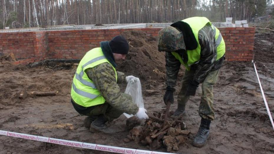 В воронежском микрорайоне Подгорное нашли останки 2 красноармейцев
