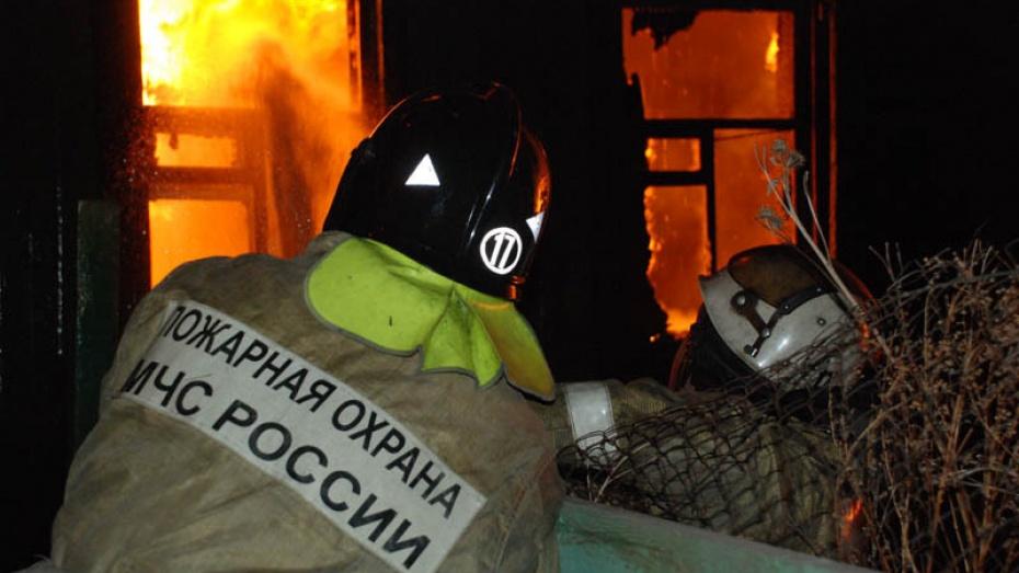 В Воронеже в Коминтерновском районе в частном секторе случился пожар