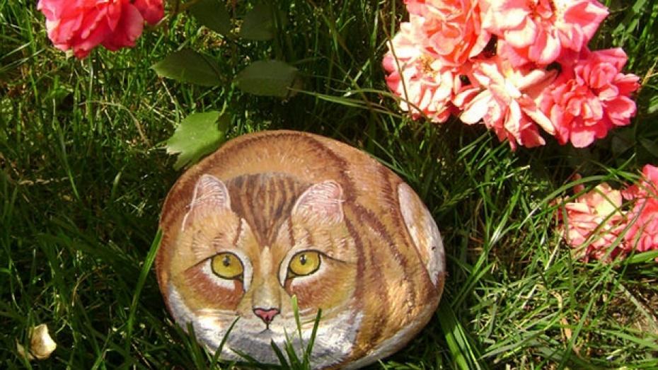 Жительница Калача Наталья Матвиенко превращает камни в кошек