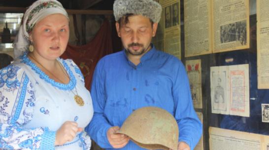 В таловском поселке Березовка супруги создали музей истории Великой Отечественной войны
